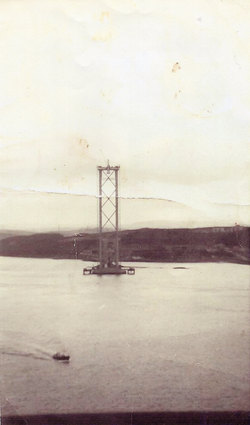 Newly Erected Tower Of The Forth Road Bridge c.1961