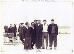 Team Of Construction Workers At The Opening Of The Forth Road Bridge c.1964