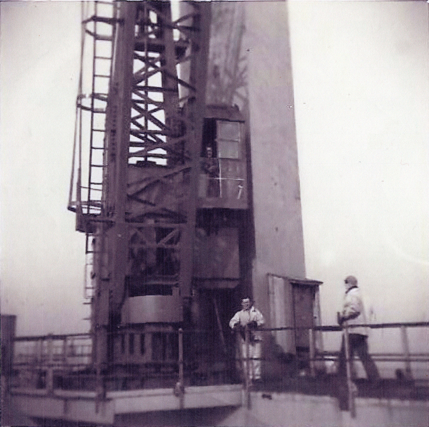 Construction Workers On Forth Road Bridge By One Of The Towers c.1962