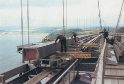 Fitting Sections Into Place On The Forth Road Bridge c.1963