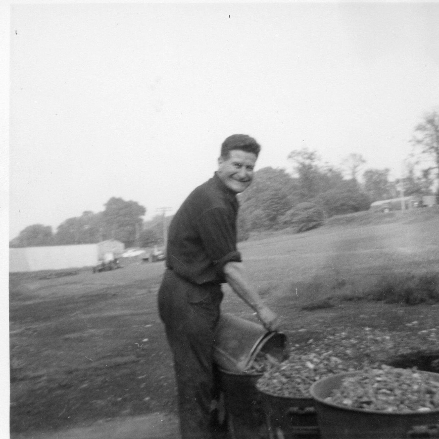 Man at work, (construction?), Oxgangs