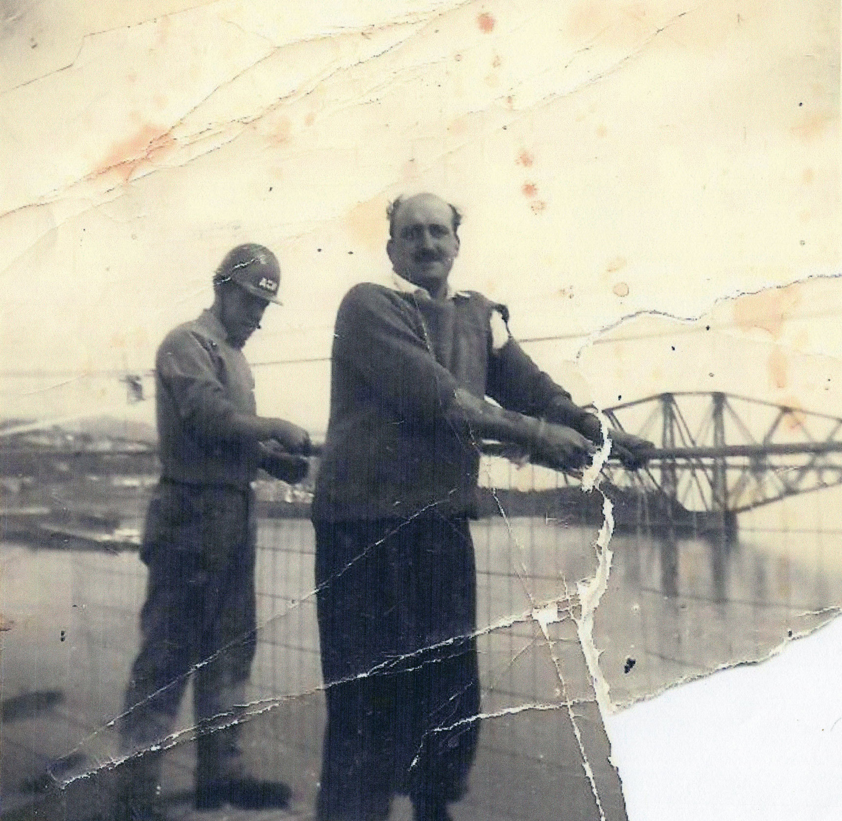 Men Working On Construction Of The Forth Road Bridge c.1962