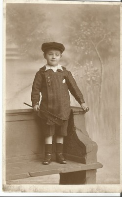 My father George Robertson aged approx four
