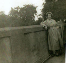 A picture of my Mum on a family outing to Callander, Perthshire.