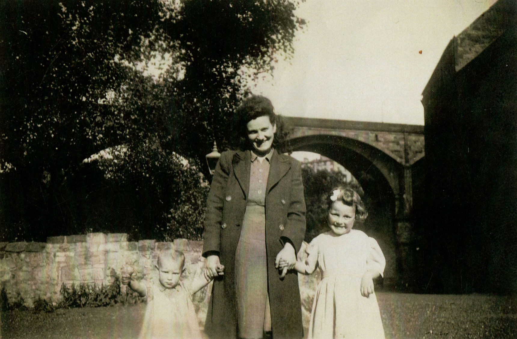Me, Mum & Avril in Miller Row pictured with the Dean Bridge