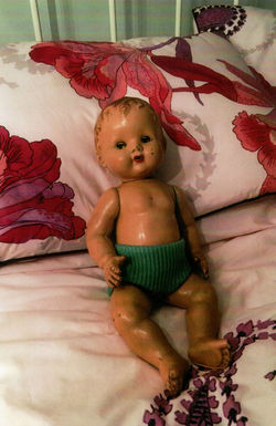 The Doll was a Christmas present from my Mum & Dad,