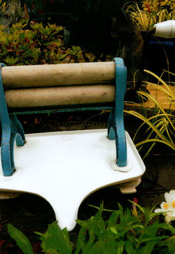 """I bought this """"Limpet Portable Mangle Super Wash Wringer with a,"""
