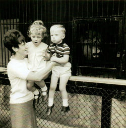 Me with Gillian & Paul at Edinburgh Zoo and in the,