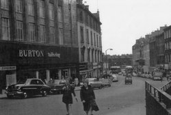 Leith Street Looking Down Toward Picardy Triangle 1960s