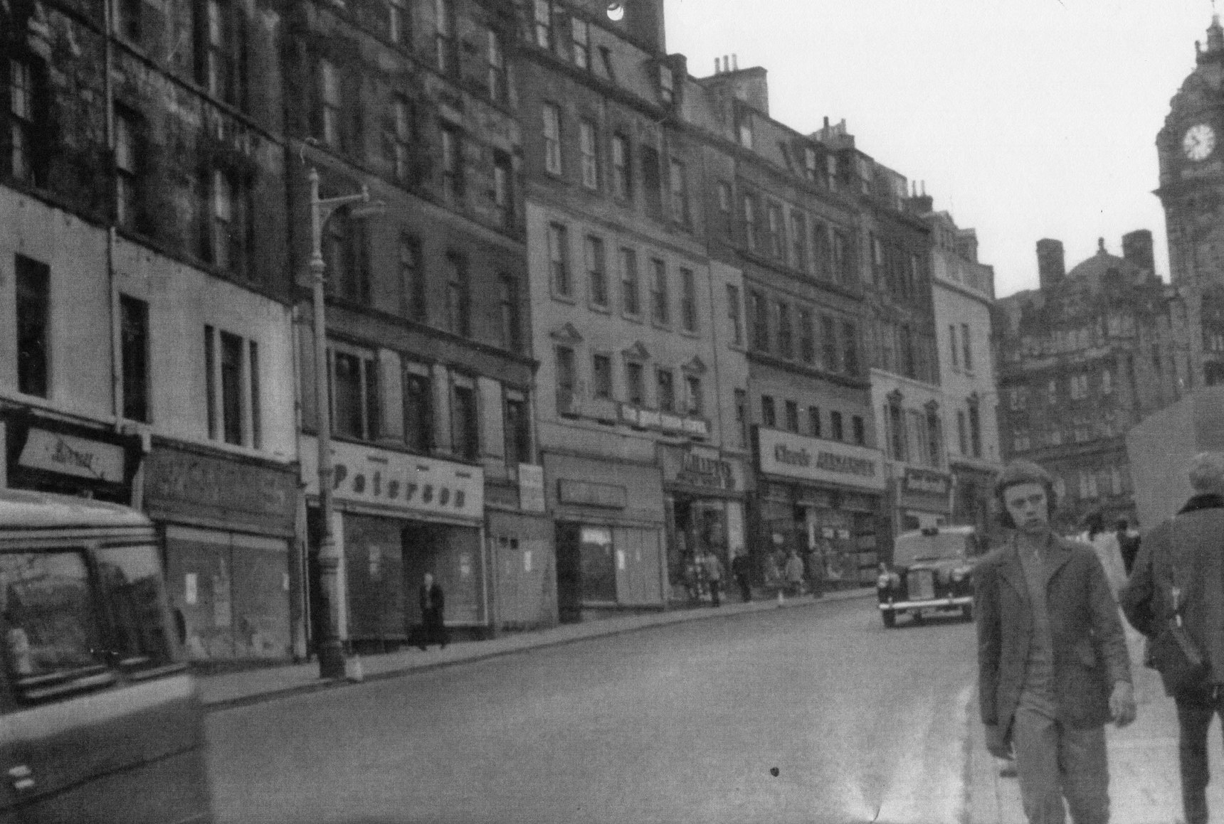Leith Street Looking Up Toward North British Hotel 1960s