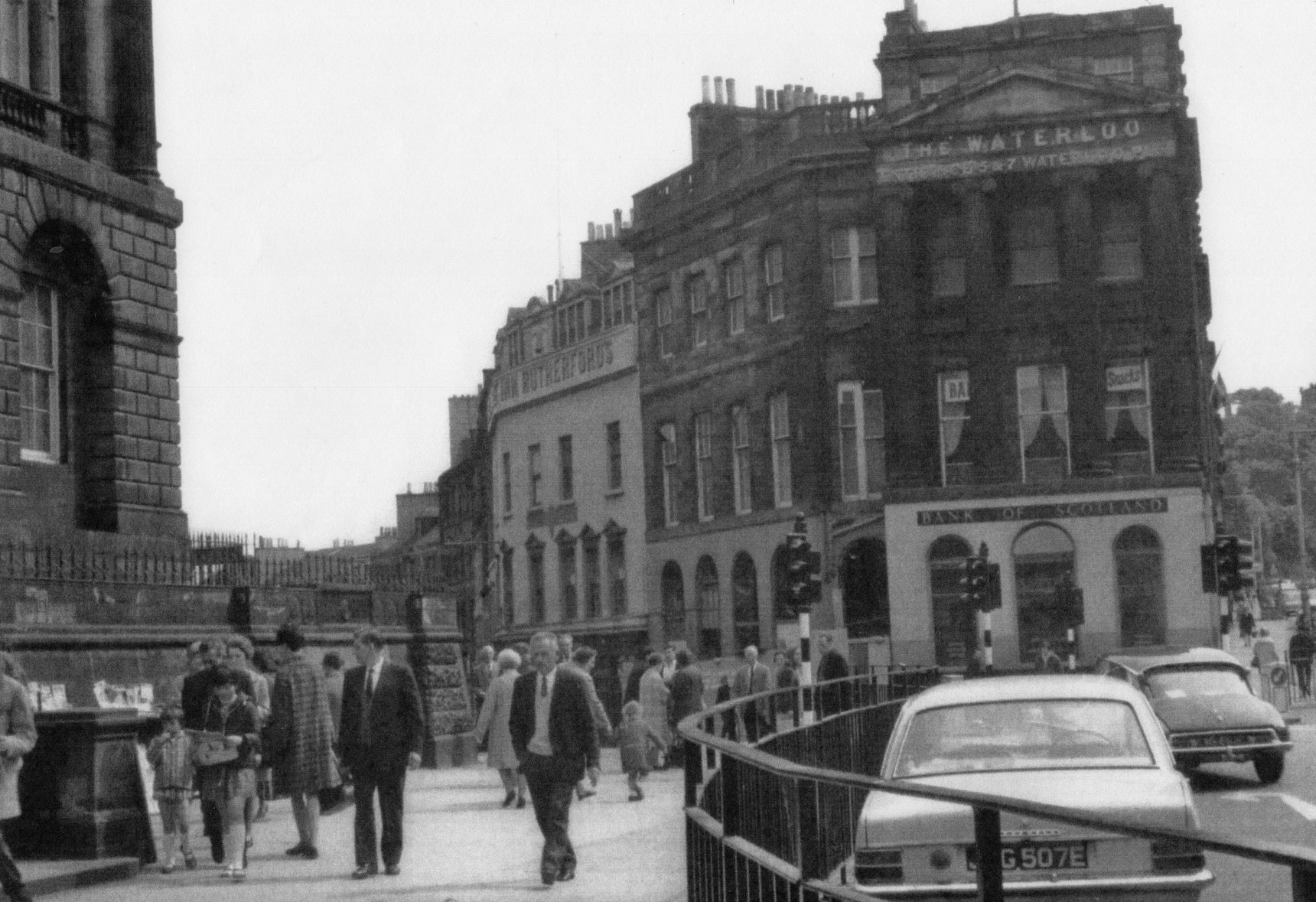 East End Of Princes Street Junction With Leith Street 1960s