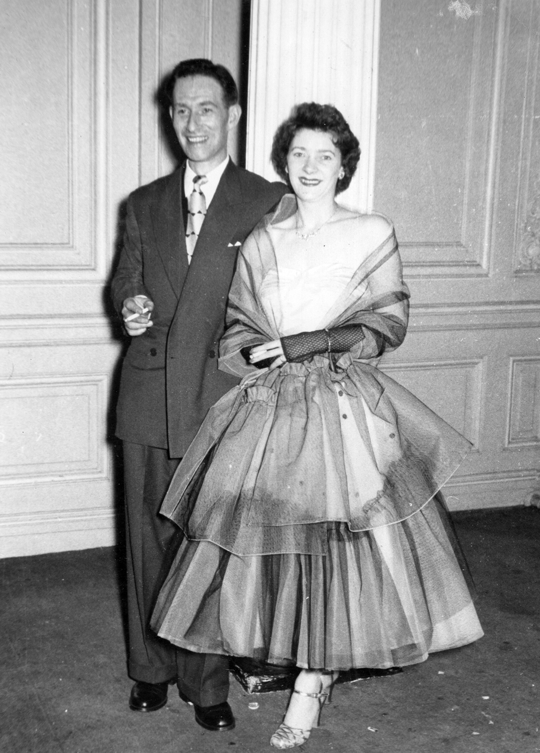 Couple Dressed Up On An Evening Out 1950s