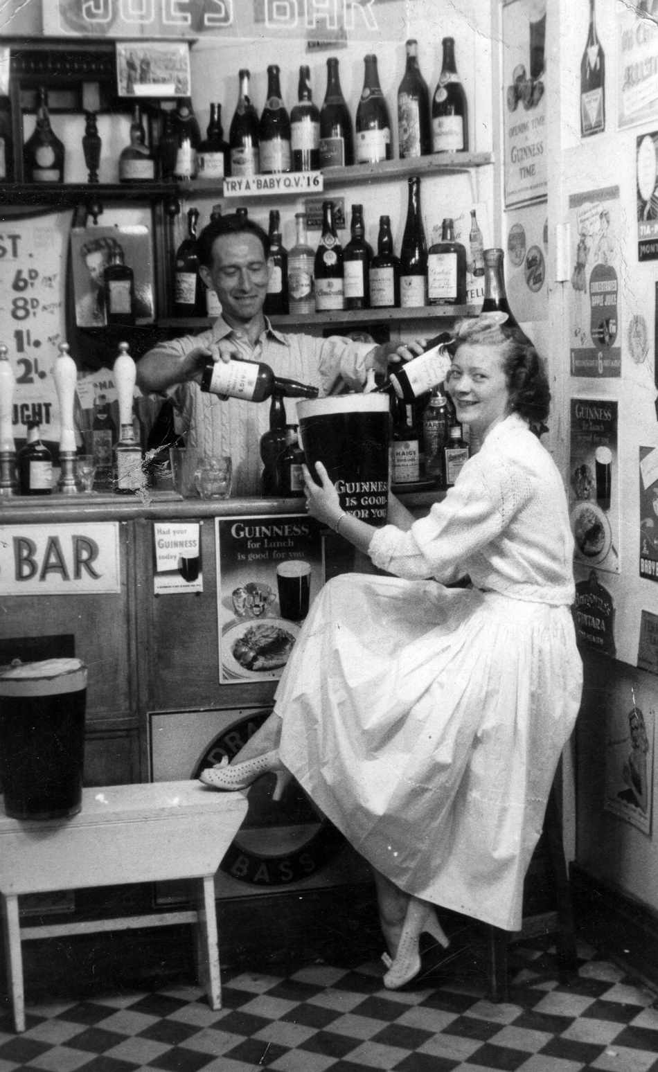 Couple Having Drinks At Bar On Holiday In Great Yarmouth 1950s