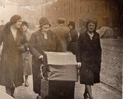Woman Pushing Pram Along Great Junction Street c.1910