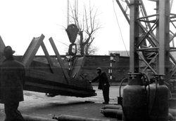 Demolition Of Bonnington Toll Railway Bridge c.1968