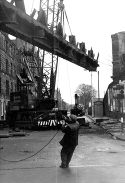 Demolition Of Bonnington Toll Railway Bridge c.1968