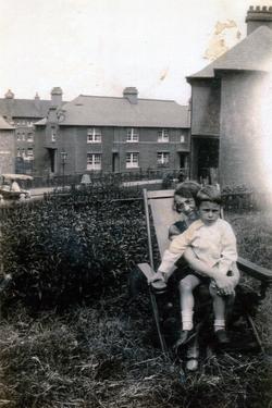 Mother And Son Sitting In Deckchair In Their Garden At Northfield Crescent c.1930