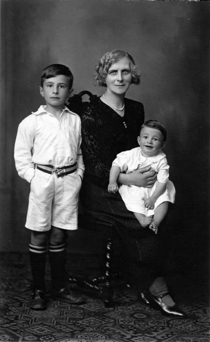Studio Portrait Grandmother With Her Grandsons c.1933