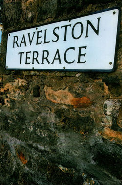 The front door of our Dean Parish Church led you onto Ravelston Terrace.
