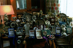 This is my collection of over 100 Medals and Trophies that I have won Ten Pin Bowling.