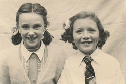 Dean School Photo of Me and Kathleen Glancy. Kathleen lived in the Well Court.