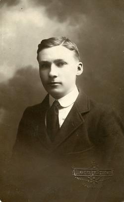 Studio Portrait Young Man 1930s