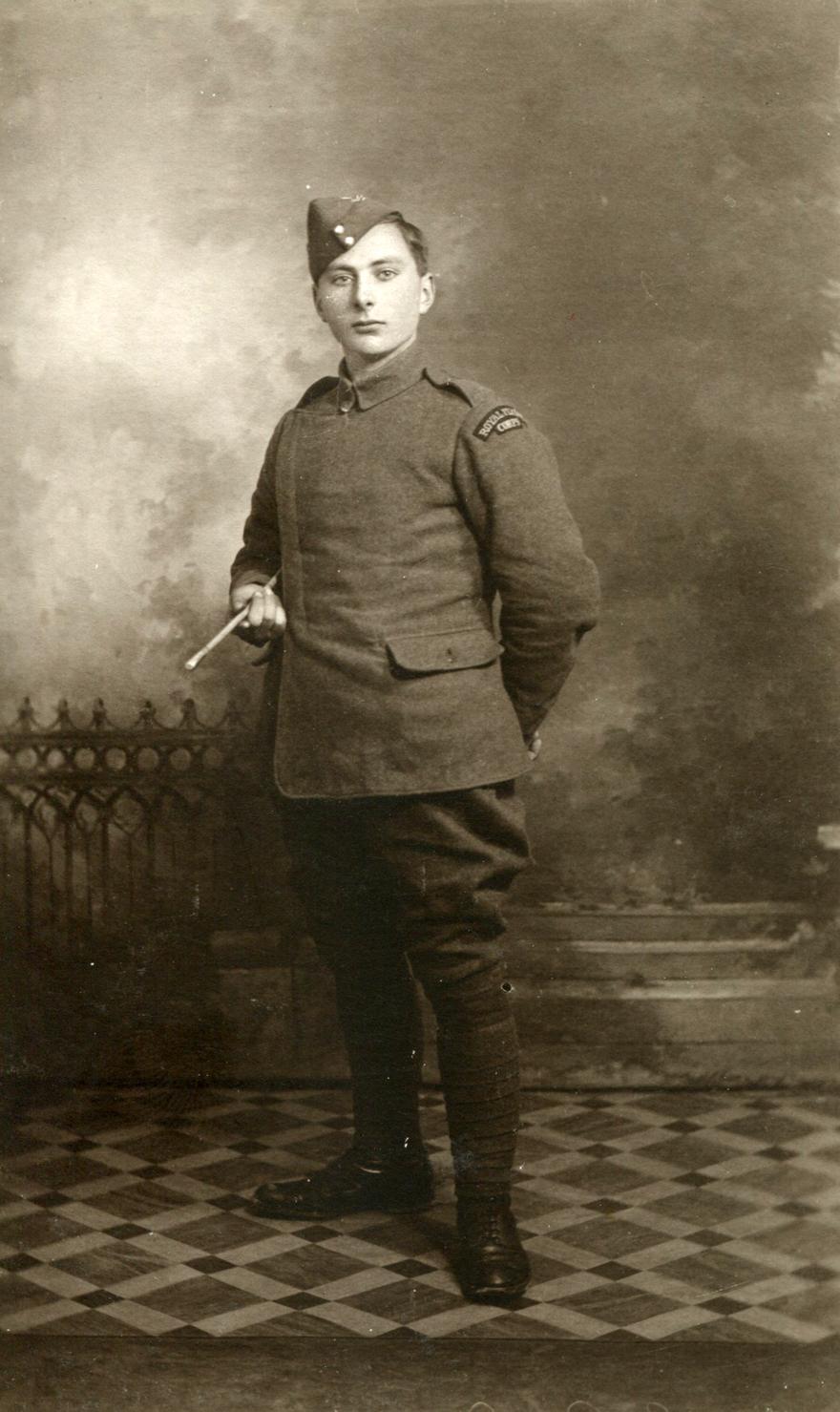 Studio Portrait Royal Flying Corps Serviceman c.1917
