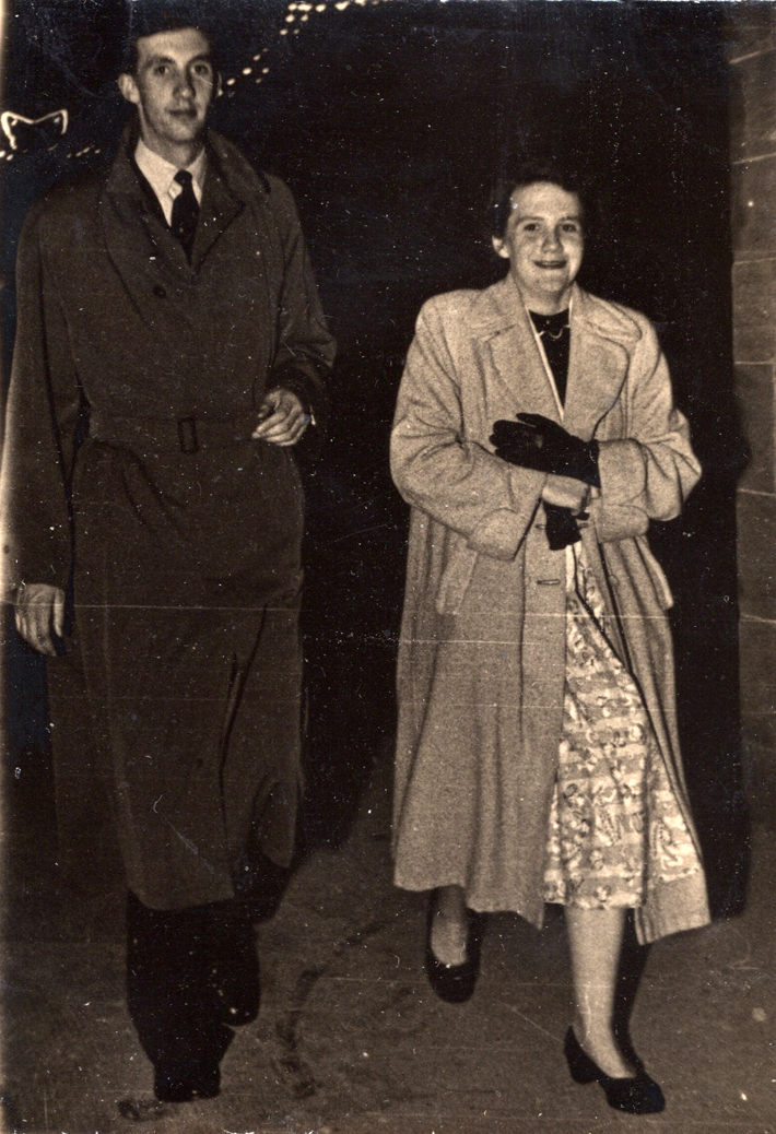 Brother And Sister On An Evening Out, early 1950s
