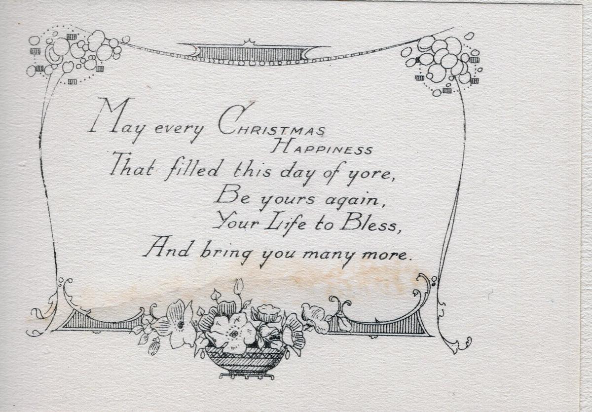 Christmas Good Luck Card 1940s
