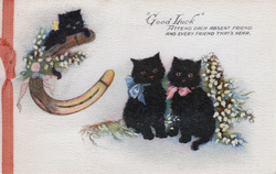 Christmas Good Luck Card 1940s