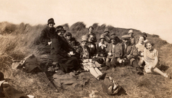 Having Picnic On Orkney Coast 1930s