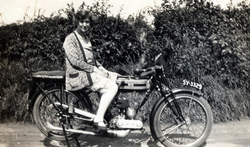 Young Woman Sitting On Motorbike 1930s