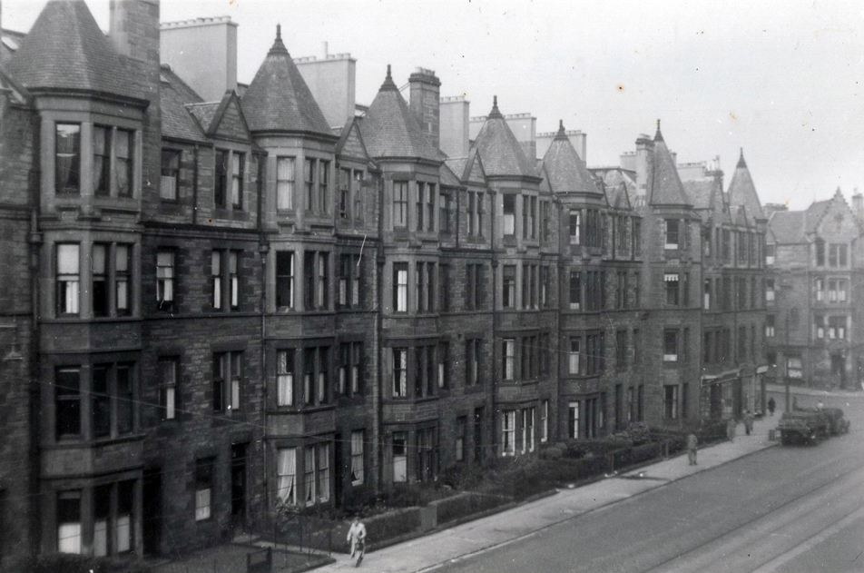 Marchmont Road On A Day When Edinburgh Corporation Had Cleared The Street Of Traffic, Oct 1950
