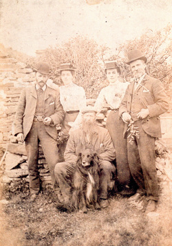 Orcadian Brother And Sisters With Their Husbands c.1904