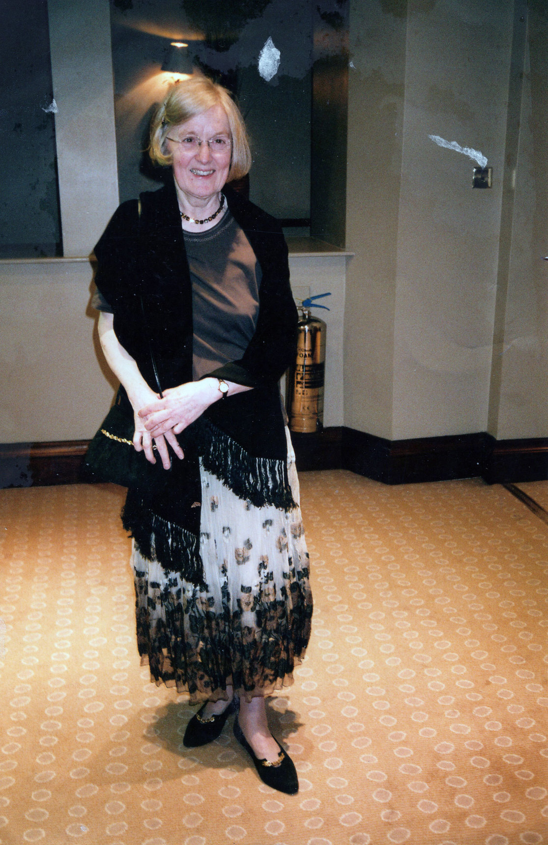 Lady Dressed Up For An Evening Out At The George Hotel 2007