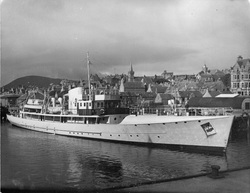 Fishery Crusier 'The Brenda' Moored At Stromness 1954