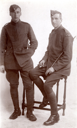 Studio Portrait Two Servicemen Of The Royal Flying Corps c.1917
