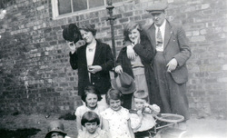 Adults And Children Outside Back Of Ramsay Technical College At Portobello c.1937