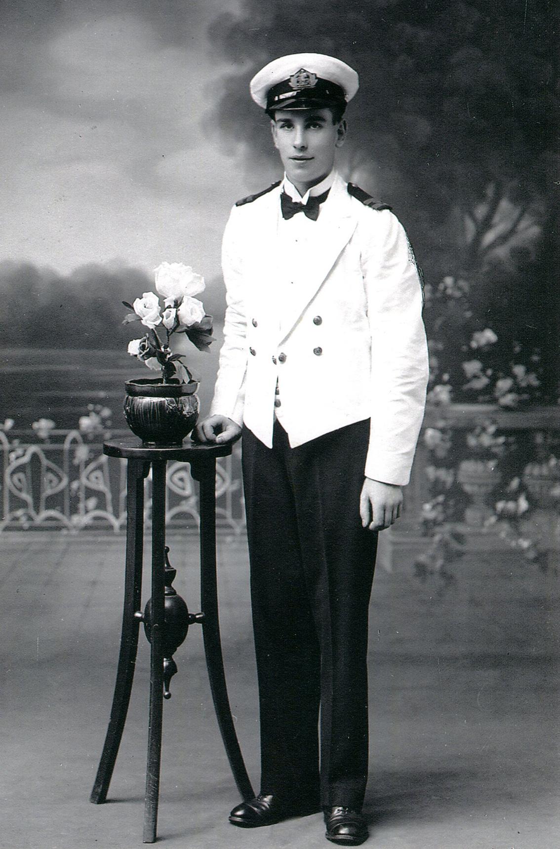 Studio Portrait Young Sailor In The Merchant Navy 1920s