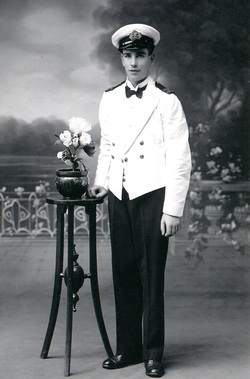 Studio Portrait Young Sailor In The Merchant Navy 1920s