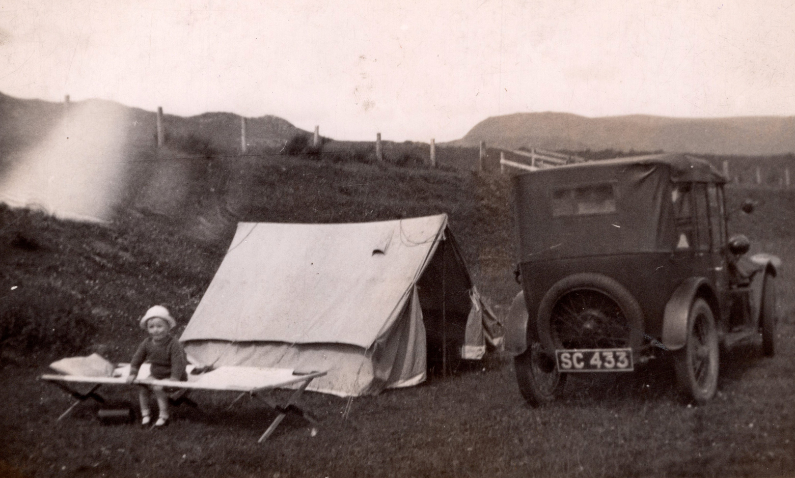 Camping Trip En Route To Orkney c.1937