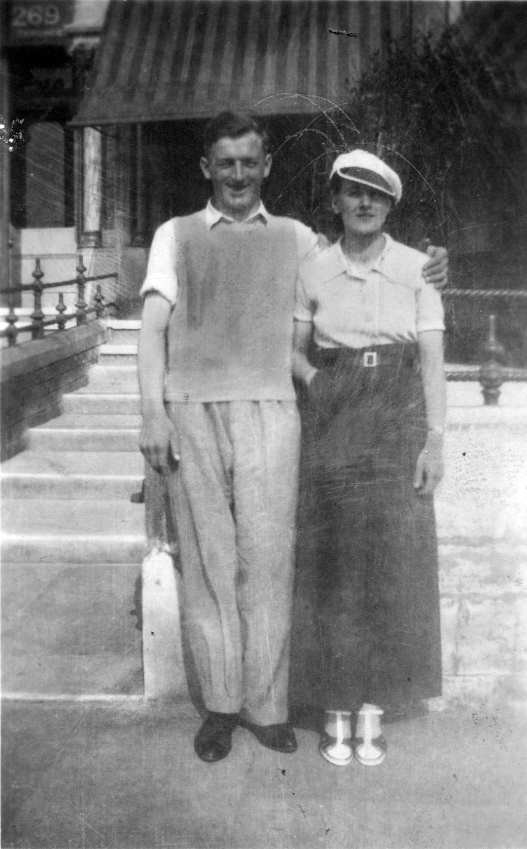 Man And Woman On Holiday In Blackpool 1940