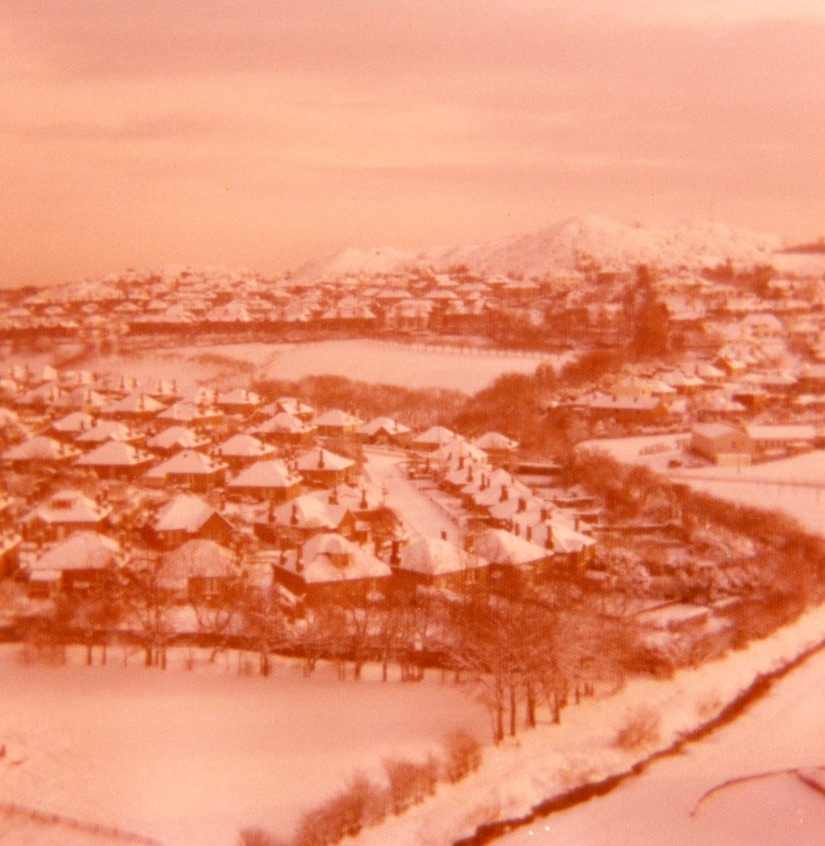View of Oxgangs towards Pentland Hills