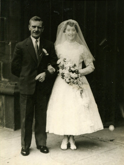 Bride And Father-of-the-Bride Outside South Leith Parish Church 1959