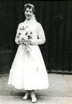 Young Bride On Her Wedding Day 1959