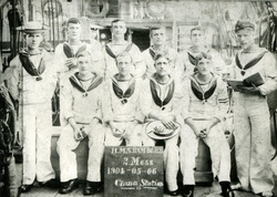 Sailors Of HMS Rambler At China Station On 6th May 1904