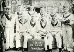 Sailors Of HMS Rambler At China Station On 6th May 1904