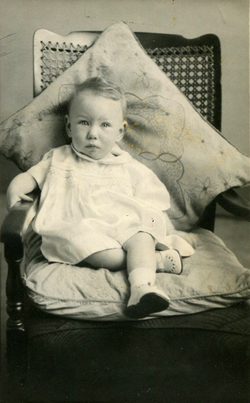 Studio Portrait Young Girl Sitting On Chair 1949