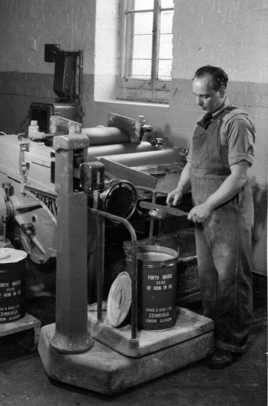 Man Mixing Paint At Craig & Rose Paint Manufacturer On Leith Walk, late 1950s