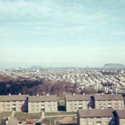 View across Oxgangs rooftops